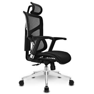 迩高迈思(Ergomax) ALX人体工学电脑椅网椅家用办公椅子休闲游戏 黑色