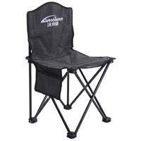 沃特曼Whotman 便携式折叠椅小凳子钓鱼椅户外休闲马扎沙滩椅38X38x65cm 中号WY1799条纹黑