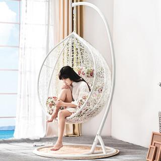 家逸吊篮摇椅秋千吊椅户外休闲椅阳台藤椅白色
