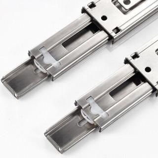 卡贝Cobbe不锈钢静音阻尼导轨抽屉轨道三节轨加厚缓冲滑轨45cm/18寸