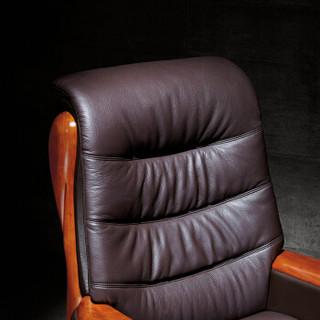 洛克菲勒老板椅办公椅转椅家用电脑椅子牛皮大班椅总裁椅  A675