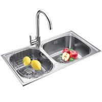莱尔诗丹 Larsd LR7843R 304不锈钢水槽双槽 厨房水槽双槽套餐 厨房洗菜池洗菜盆洗碗池