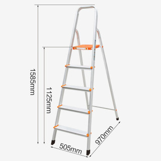 瑞居家用梯子居家梯子人字梯子铝合金梯子折叠梯五步梯1.1K