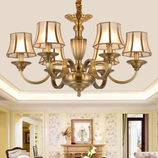 雷士(NVC) led欧式客厅灯吊灯 铜灯饭厅餐厅卧室吊灯创意复古个性灯具灯饰 6头不带光源