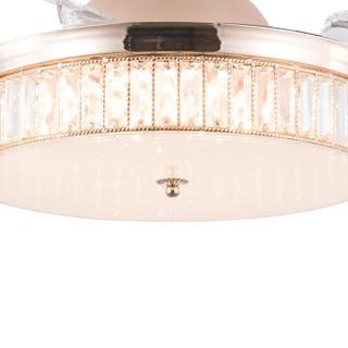 雷士(NVC)led吊扇灯欧式客厅卧室铜吊灯 隐形风扇灯大气吊扇灯吊扇灯  32瓦 带遥控