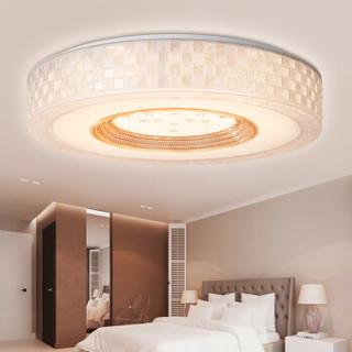 雷士(NVC)led吸顶灯客厅灯 现代简约卧室灯灯具灯饰 简约圆形卧室灯三色分控 30W