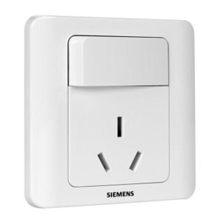 西门子(SIEMENS)开关插座面板  远景系列 雅白色 16A三孔带开关插座10支装5UB02021CC1