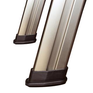 稳耐  家用梯 铝合金人字梯1.6米折叠梯四步梯带工具托盘登高梯优雅金防滑宽踏板梯子234T-3CN