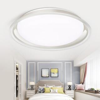 雷士(NVC) LED吸顶灯卧室灯餐厅书房灯饰  现代简约分段调光  24瓦