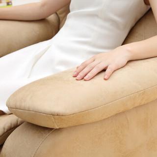 极客 单人沙发 多功能布艺头等舱沙发 豪华舒适型大号懒人沙发 黄色