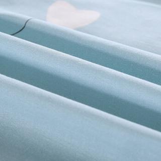 艾薇 床单家纺 全棉斜纹印花被单 单人纯棉床单 单件 伊尚蓝 1/1.2米床 150*210cm