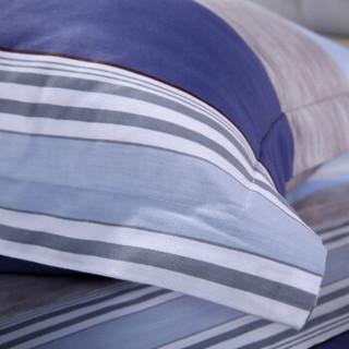 艾薇 套件家纺 全棉斜纹床单四件套纯棉印花双人床上用品 米罗 1.5/1.8米床 被套200*230cm