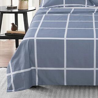 意尔嫚 床上用品 纯棉床单床罩单件 双人全棉学生宿舍床垫保护罩 1.5/1.8米床 230*250cm 休闲午后