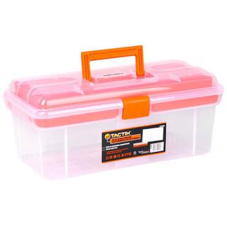 拓为(Tactix)320105 工具箱 家用大号38cm (15英寸) 透明塑料美术箱美术工具箱三层工具收纳箱