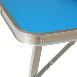 鲸伦 (KINGRUNNING) ZDZ033 便携式可折叠笔记本电脑桌 宿舍懒人桌 床上用小书桌 铝合金儿童餐桌 蓝色