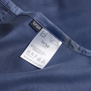 时光居品(turqua)床单 全棉60支贡缎纯色双人床单单件245*270cm 长绒棉缎纹纯棉素色简约被单 帝王蓝1.8米床