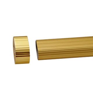 卡贝Cobbe衣柜挂衣杆铝镁合金伸缩衣柜杆加厚五金配件 金色中号