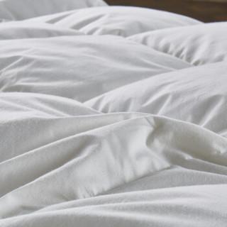 鸿雁 被芯家纺 全棉95%白鹅绒加厚羽绒被子 双人保暖冬被 白色 填充量1.25kg 200*230cm