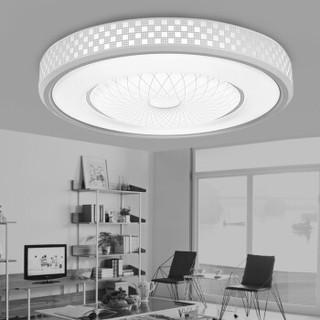 SDhouseware 首度家居 LED吸顶灯客厅灯卧室灯阳台灯大气圆形现代简约灯具灯饰 九筒 52cm白光
