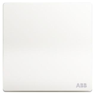 ABB 开关插座面板 一开单控单开单控开关 轩致系列 白色 AF127