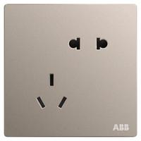 ABB 轩致系列 开关插座面板 金色 斜五孔1只装