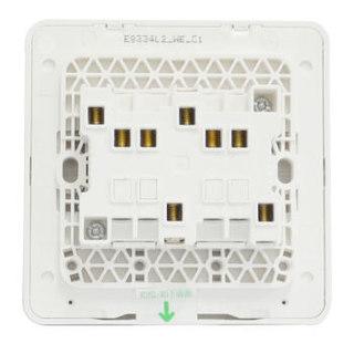 施耐德(Schneider)开关插座面板 绎尚系列镜瓷白色16A开关四开单控