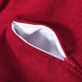 LUCKYSAC 中款豆袋懒人沙发一套 富贵红