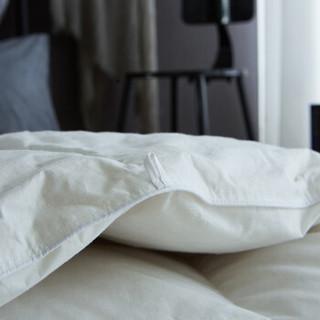 皮尔卡丹 被子家纺 全棉羽毛被羽绒鹅毛被芯纯棉空调被春秋被四季被 单人被芯 白色 150*200cm