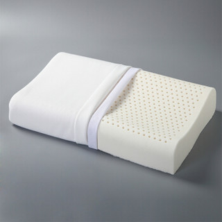 恒源祥 床上用品 天然乳胶枕 舒适颈椎记忆枕芯波浪形 30x50cm