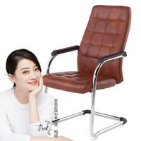 奈高电脑椅办公椅职员椅家用弓形椅人体工学椅-棕色