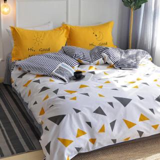 雅鹿·自由自在 四件套纯棉家纺 床上用品床单被套枕套全棉斜纹套件 1.5米/1.8米床 被套200*230cm 灵动
