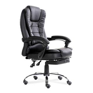 欧宝美可躺电脑椅子办公家用转椅老板椅会议椅人体工学椅黑色