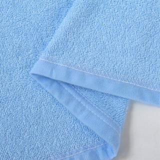 竹之锦 床品家纺 竹纤维经编纯色毛巾被毯子四季毯 蓝色 180×200cm