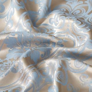 优雅100丝棉贡缎提花四件套丝棉被套床单被罩欧式双面婚庆床上用品套件四件套圣卡洛尼米金1.8米床220*240cm