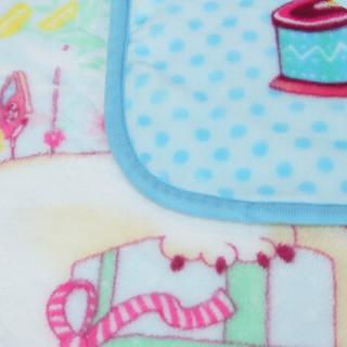 富安娜出品 馨而乐 毯子 空调房单人毛毯 办公室沙发午睡盖毯 儿童四季法兰绒毯 熊宝萌萌哒 90*100cm
