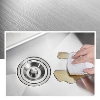 卡贝(cobbe)水槽手工单槽洗菜盆304不锈钢加厚厨房洗碗池套装洗菜池