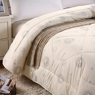 南极人(Nanjiren)被芯家纺 羊毛被加厚冬被冬季被子双人被芯棉被盖被 米黄 200*230cm 8斤