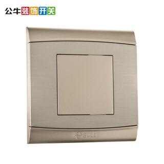 公牛(BULL)G19B101U6 86型白板盖板铝镁拉丝金属挡板空白面板G19U6香槟金