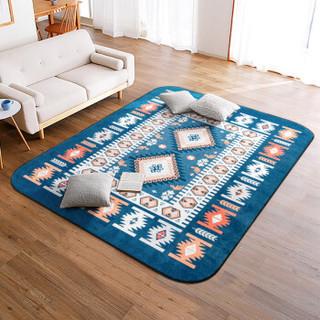 江南叶地毯 客厅卧室沙发茶几地垫 印花短绒地毯140*200cm爱斯基摩