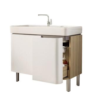 科勒(KOHLER)浴室柜K-45764T-0+龙头K-76602T 浴室柜套餐 900mm 单孔