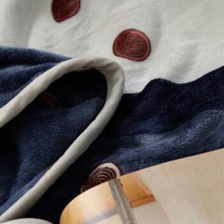 意尔嫚 毛毯家纺 加厚法兰绒毯子 珊瑚绒午睡空调毯水晶绒毛巾被盖毯 冬季床上床单 180*200cm 贵族时尚