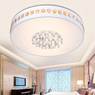 雷士(NVC) LED水晶吸顶灯卧室餐厅书房灯具灯饰  双色光源  36瓦