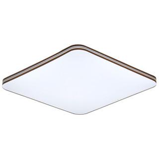 阳光照明led客厅灯方形吸顶灯三色调光卧室灯现代简约木纹灯具78瓦54*54厘米