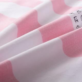 艾薇 床单家纺 全棉斜纹印花被单 双人纯棉床单 单件 热带风粉 1.5/1.8米床 230*250cm