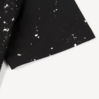 HLA 海澜之家 HNTBJ2E200A 男士圆领花纹徽章星空短袖T恤