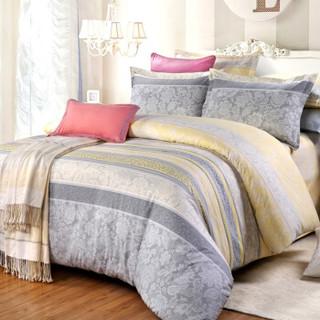 艾薇 套件家纺 全棉床笠四件套纯棉双人床上用品 美丽心情 1.8米床 被套200*230cm