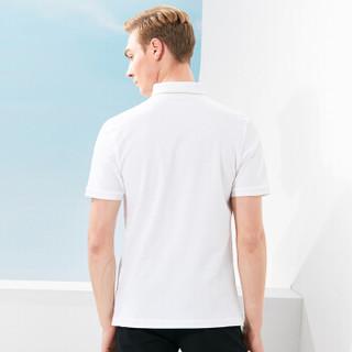 FIRS 杉杉 DDX17A06-1 男士纯色纯棉翻领短袖polo衫