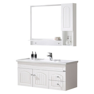名爵(MEJUE)Z-6236090实木白色简欧浴室柜洗手盆洗脸盆柜组合套装吊柜
