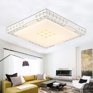 nvc-lighting 雷士照明 吸顶灯客厅灯卧室灯Led灯具 可分控水晶灯 正方形三色可调控(30W3000K+6500K)