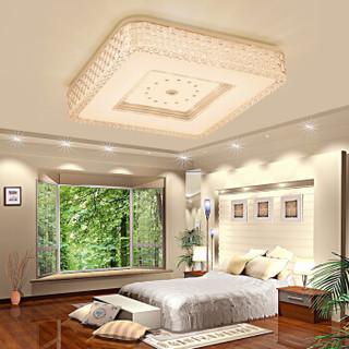 nvc-lighting 雷士照明 吸顶灯客厅灯led灯具 时尚唯美边框卧室灯 正方形三色可分控36W